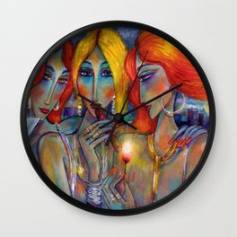 Ladies night out Wall Clock