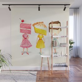 Cake Head Pin-Ups Wall Mural
