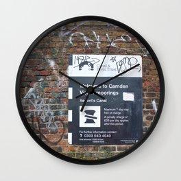 Camden moorings sign Wall Clock
