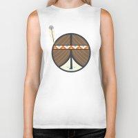peace Biker Tanks featuring Peace by Wharton