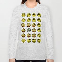 Attack of the Zombie smiley! Long Sleeve T-shirt