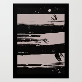 Brush strokes - Set of 3 Prints-02 Art Print