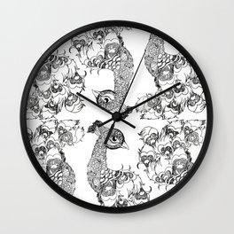 B&W Peacala Wall Clock