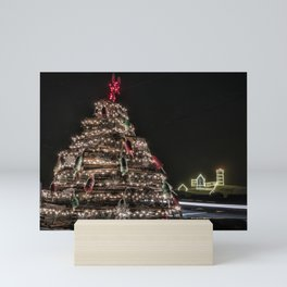 Lobster trap tree at the Nubble Lighthouse Mini Art Print