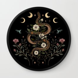 Serpent Spell Wall Clock