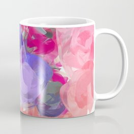 Flower Power in Pink, Purple, Peach and White Coffee Mug