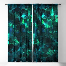 Fever Pitch - Aqua Variant Blackout Curtain