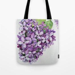 Watercolour Lilac Bloom Tote Bag
