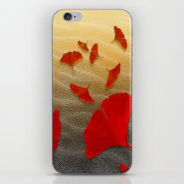 Red Ginko iPhone Skin