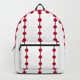 Geometric Droplets Pattern Linked - Pastel Red on White Backpack