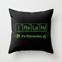 Ireland - It's Elementary Throw Pillow