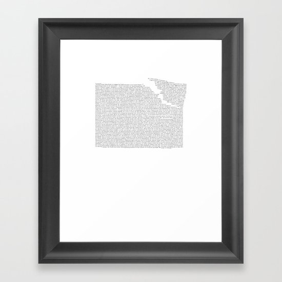 Erosion & Typography 2 Framed Art Print