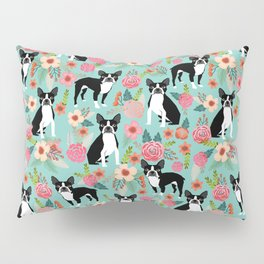 Boston Terrier floral dog breed pet art must have boston terriers gifts Pillow Sham