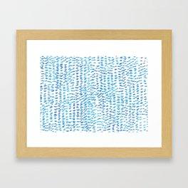 Ocean Spatter Framed Art Print