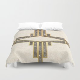 Luxurious gold and marble Duvet Cover