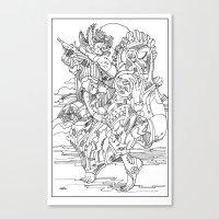cyberpunk Canvas Prints featuring A Cyberpunk Madonna by Davide Caviglia