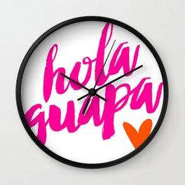 Hola Guapa Wall Clock