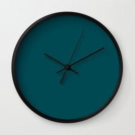 Midnight Green (Eagle Green) - solid color Wall Clock