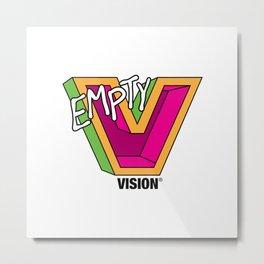 Empty V (Pink) Metal Print