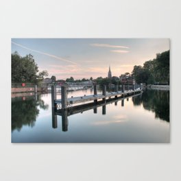 Evening over Marlow Canvas Print