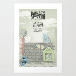 Rock Poster - Rainbow Jackson Art Print