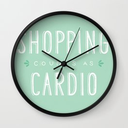 Shopping Counts As Cardio Wall Clock