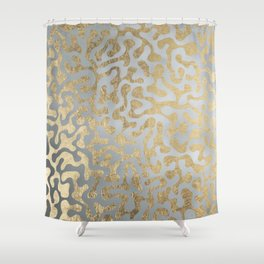 Modern elegant abstract faux gold silver pattern Shower Curtain