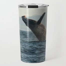 Breaching Whale Photography Print Travel Mug