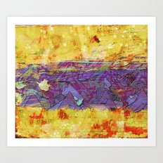Distressed two Art Print