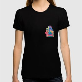 Facing Colors: Abstract Rainbow Painting T-shirt