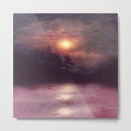 Hope in the pink water Metal Print