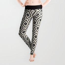 N89 - Farmhouse & Rustic Moroccan Style Pattern Design. Leggings