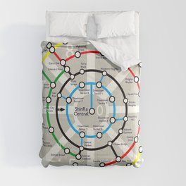 Final Fantasy VII - Midgar Mass Transit System Map Comforters