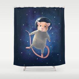 Mouse Astronaut Shower Curtain