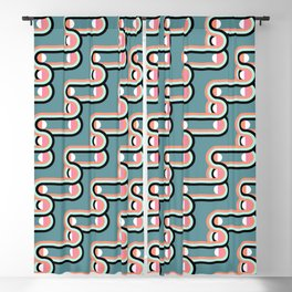 UNCHAINED PATTERN (abstract geometric) Blackout Curtain