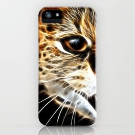 Scared catpainting iPhone Case