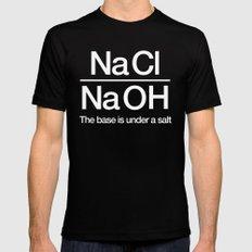 NaClNaOH Mens Fitted Tee MEDIUM Black