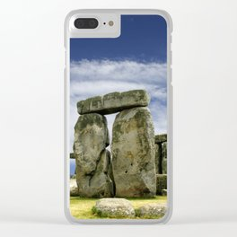 Stonehenge Stone Circle Clear iPhone Case