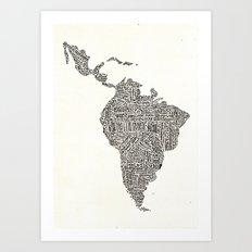 latinoamerica Art Print