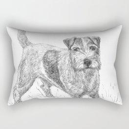Tenacious Terrier Rectangular Pillow