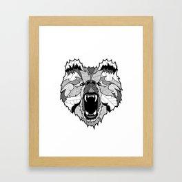 Roaring Bear Framed Art Print