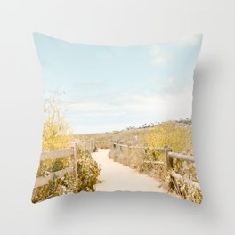 Travel photography Spring pathway I Throw Pillow