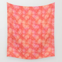 Floral pattern salmon Wall Tapestry