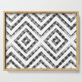 Grey Checkered Paattern Serving Tray
