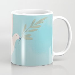 Dove of Peace with Olive Branch Coffee Mug