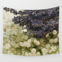 Lavender on gypsophila Wall Tapestry