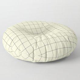 Yellow Grid Pattern Floor Pillow