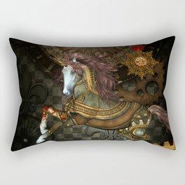 Steampunk,mystical steampunk unicorn Rectangular Pillow