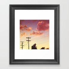 Red hot summer sun set Framed Art Print