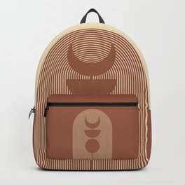 Moon Phases in Terracotta and Beige 2 Backpack